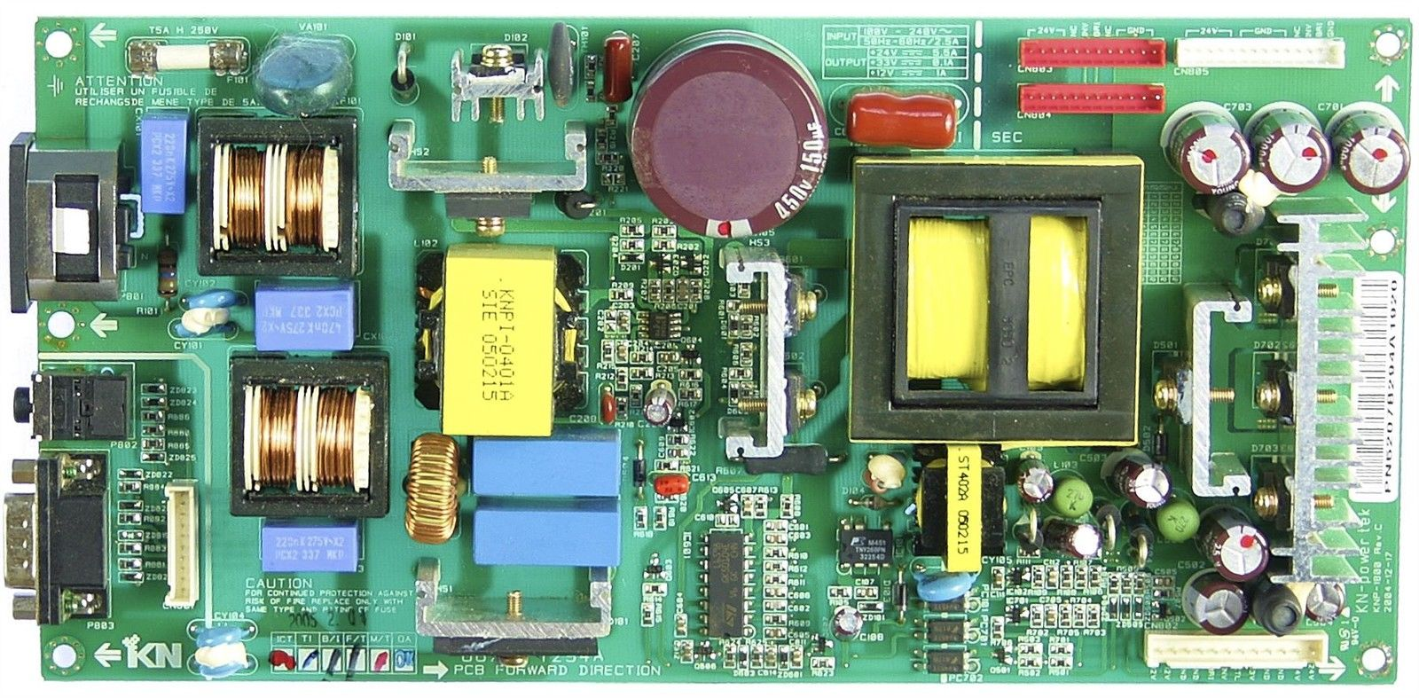 Lg Zenith 6871TPT294A Power Supply Board KNP-1800 23LX1R