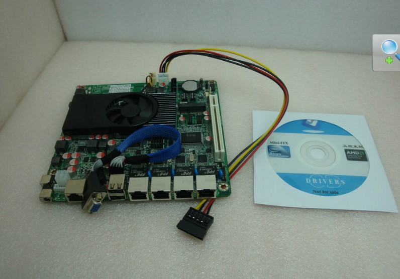 Intel ATOM D2550 Mini-ITX motherbroard with 4 LAN ports and supp