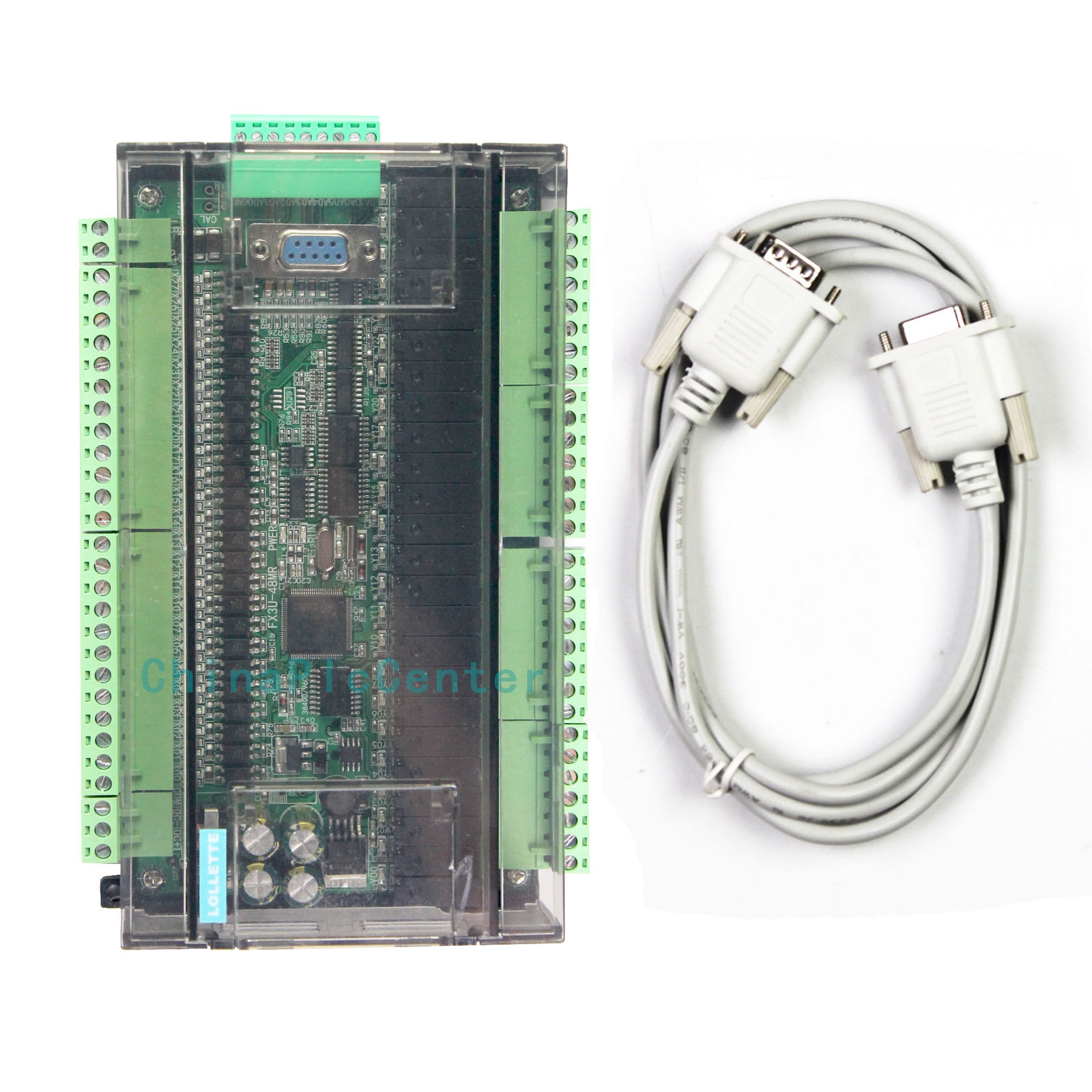 FX3U-24MR High-speed Programmable Control Board + Cable for Mitsubishi PLC