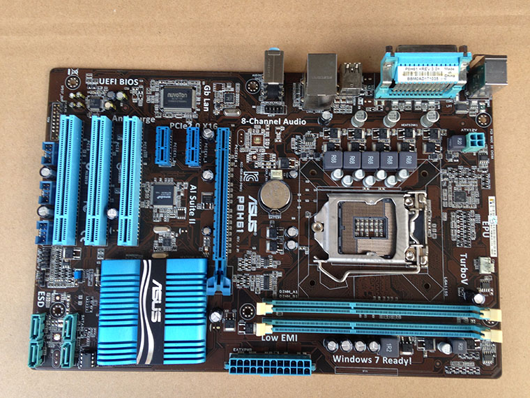 ASUS P8H61 PLUS LGA 1155 DDR3 boards for I3 I5 I7 CPU USB2.0