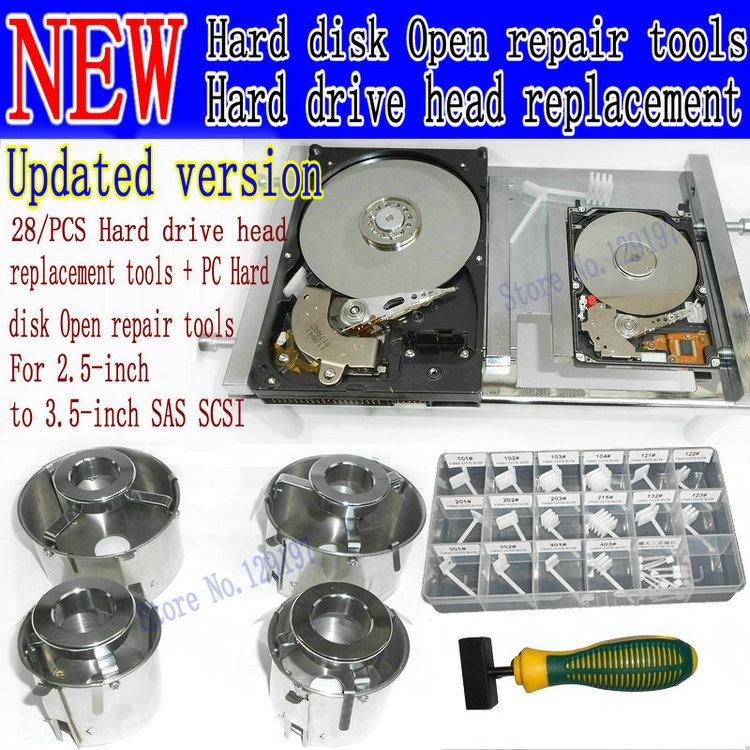Hard drive head replacement tools + PC Hard disk Open repair too