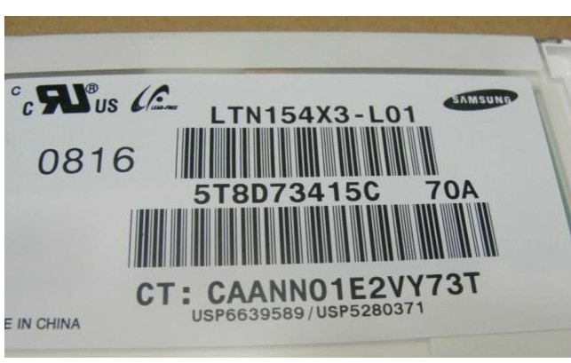 lp154w01 ltn154at01 ltn154x3 b154ew08 ltn154at07 N154i2 Laptop L
