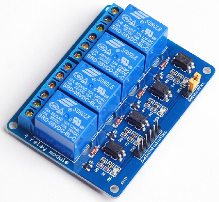 4 channels relay module,Optocoupler isolation,Optional module control board 5V 12v 24v