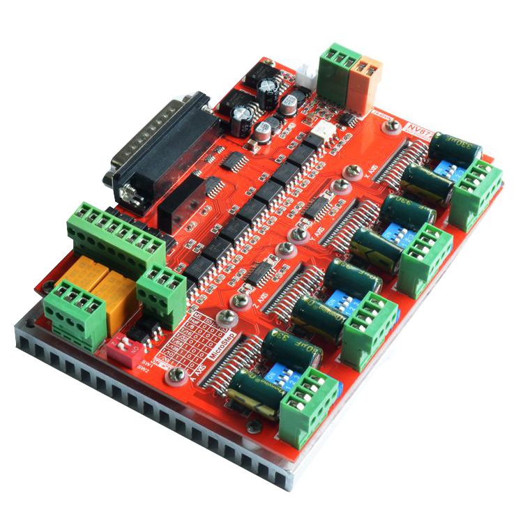 Engraving machine actuator 4 axis stepper motor driver board NV8727 CNC Stepper Drive Card for DIY CNC Router