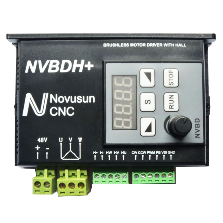 Brushless Motor Driver with Hall Controller CNC for Spindle Engraving Machine NVBDH+