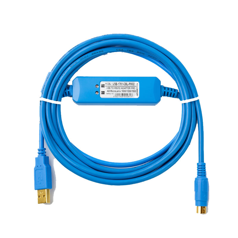 USB-1761-CBL-PM02 cable is a suitable replacement of USB programming cable for Allen Bradley Micrologix.