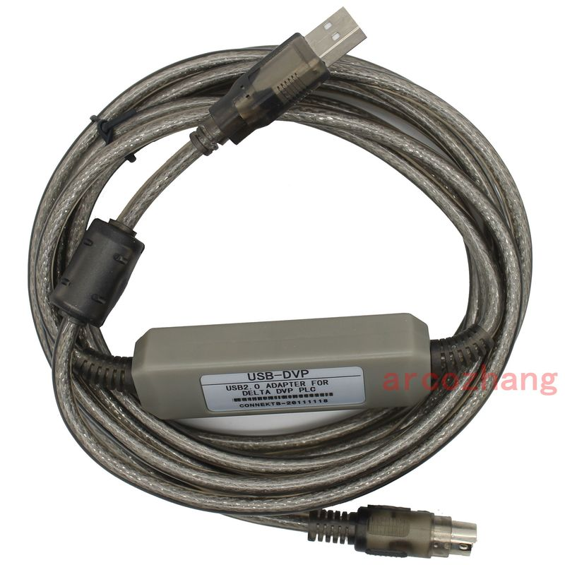 USB-DVP cable is a suitable replacement of USB programming cable for Delta DVP series PLC