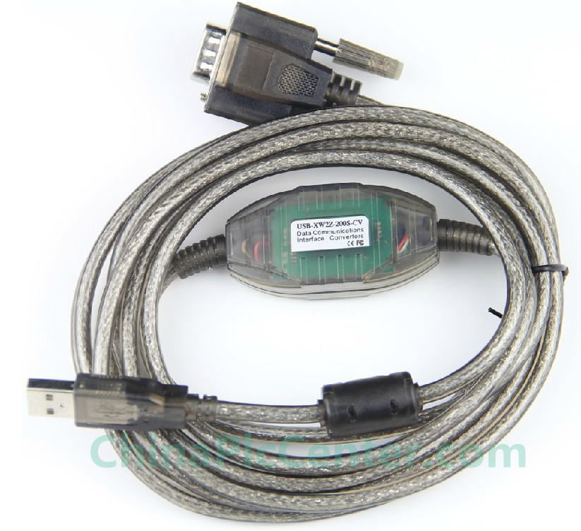 USB-XW2Z-200S-CV is a suitable replacement of USB programming cable for connecting RS-232C interface (DB9F) of Omron PLC and Touch Screen.