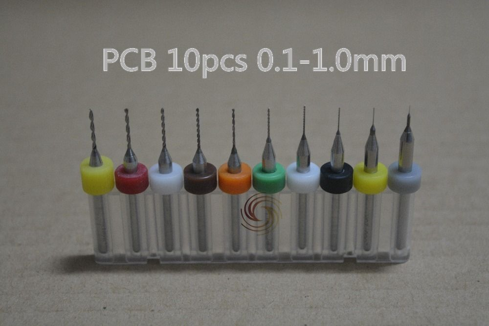 10pcs 0.1mm to 1mm PCB mini drill Bit tungsten steel carbide for PCB,CNC Machine