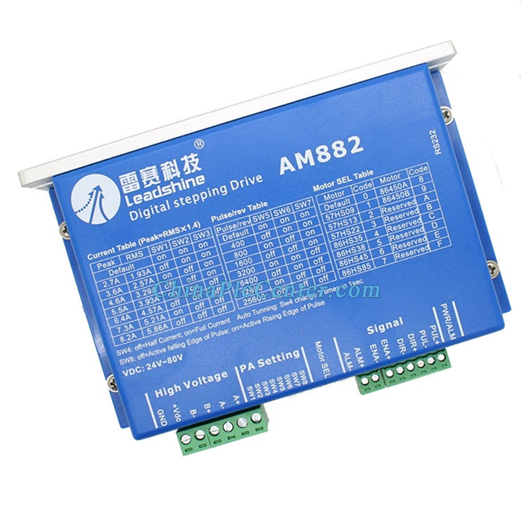AM882 Stepper Drive Stepping Motor Driver 80V 8.2A with Sensorless Detection Leadshine