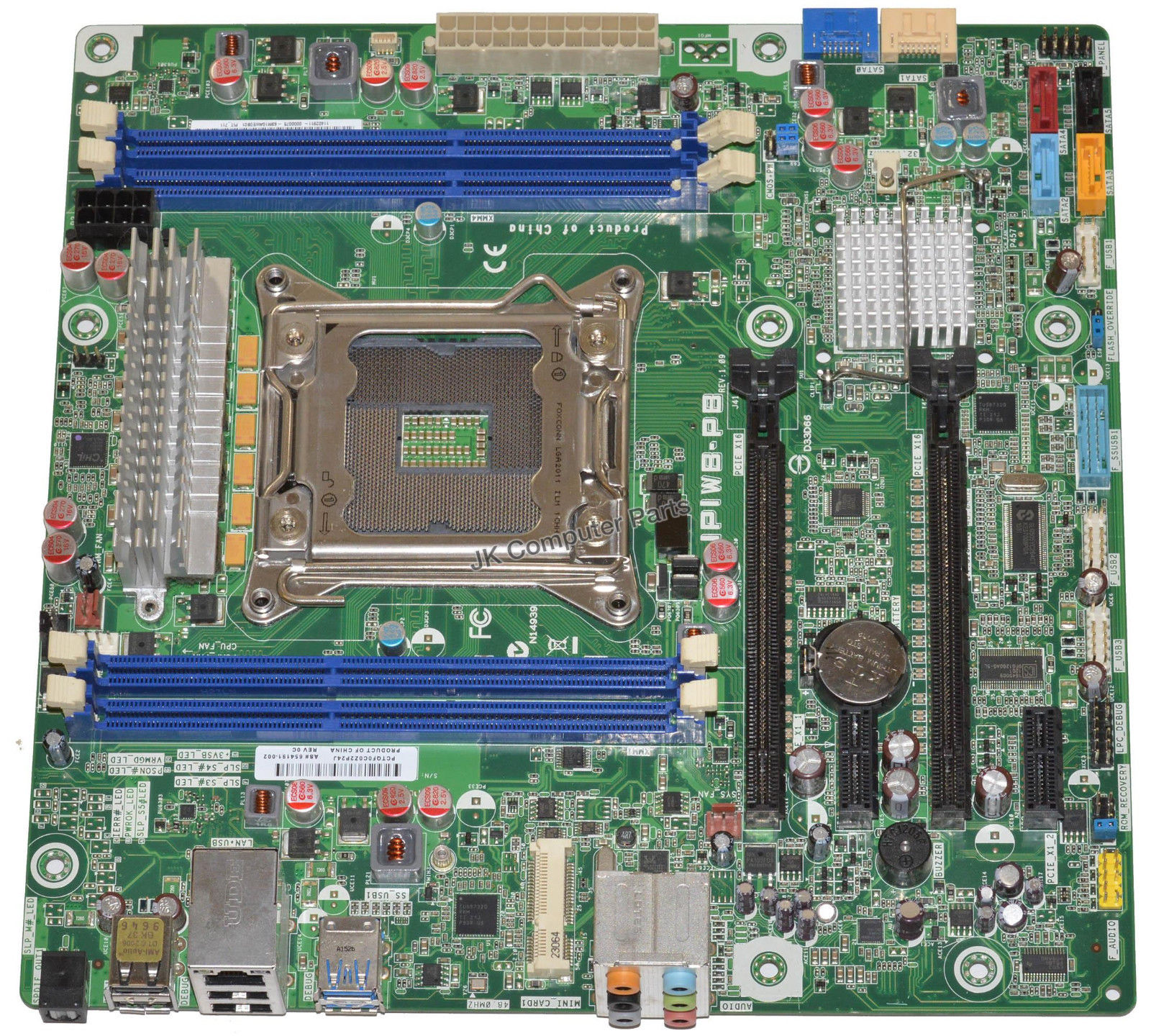 HP Pittsbugh Intel Desktop Motherboard s201 IPIWB-PB 654191-001
