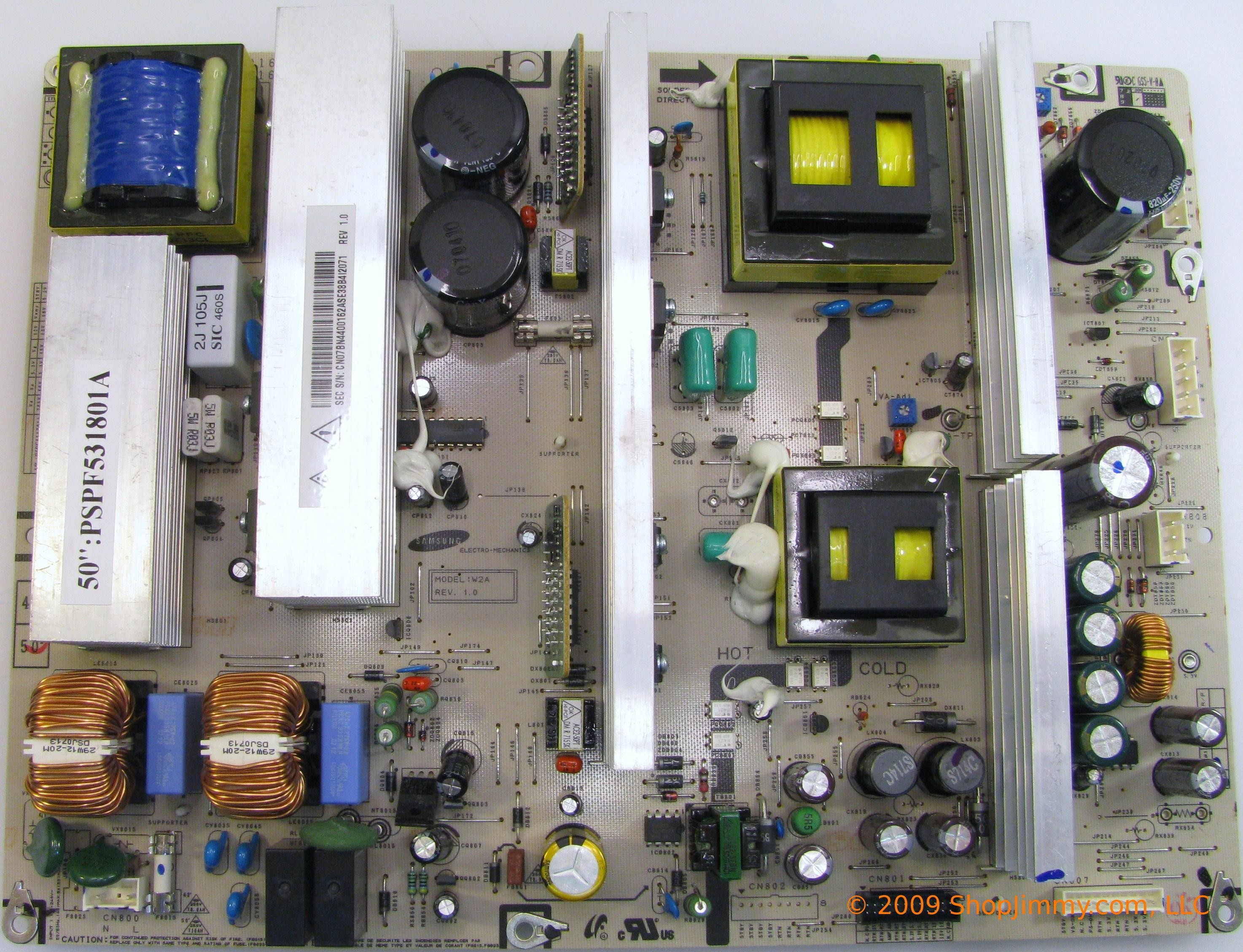 BN44-00162A PSPF531801A 50-inch plasma power supply board