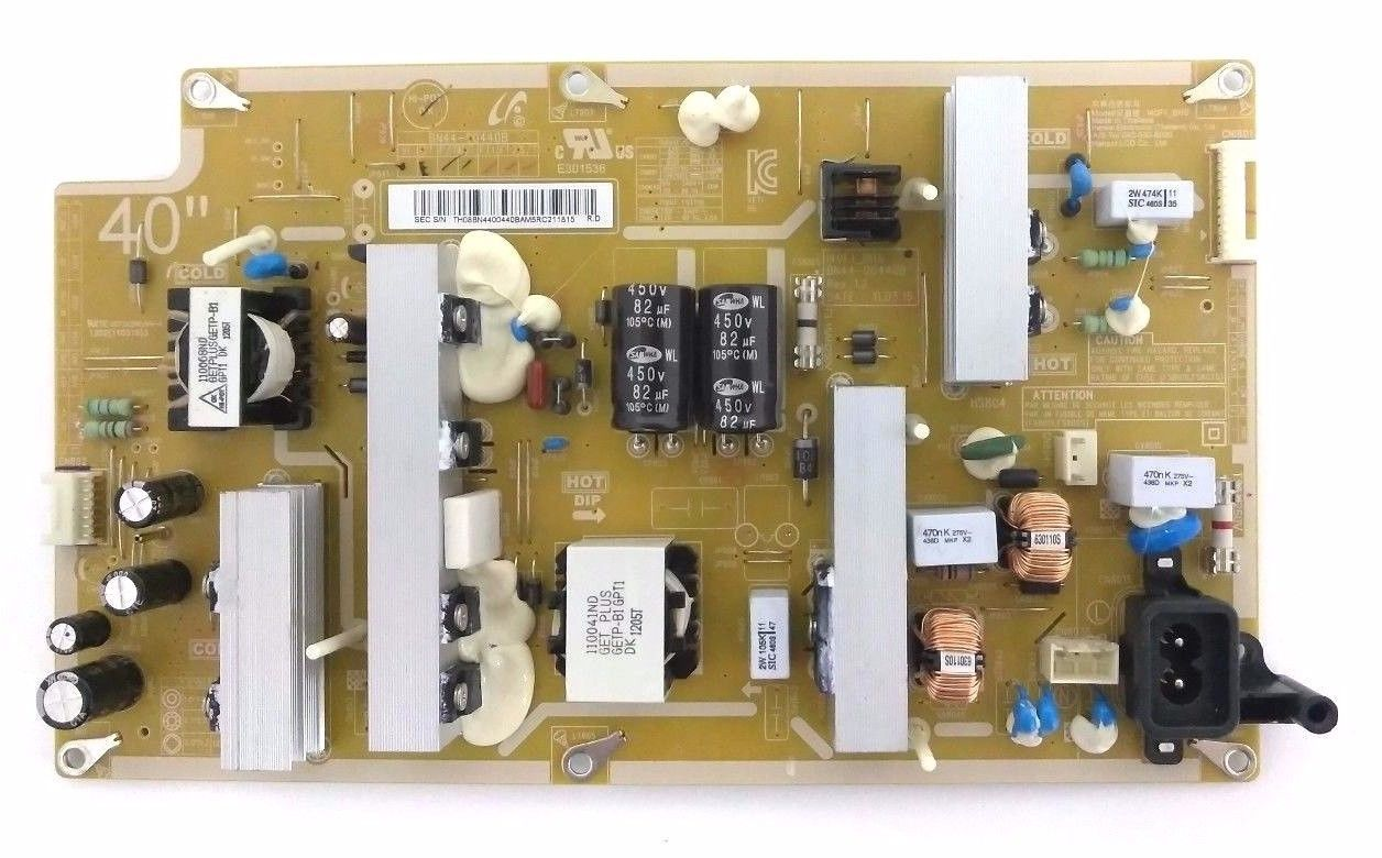 Samsung LN40E550F7F Power Supply Board BN44-00440B 140F1_BHS
