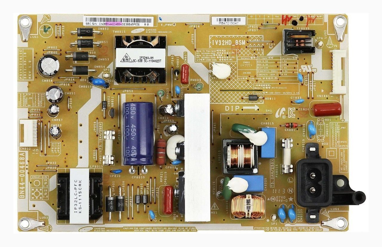 "Samsung 32"" LN32D403 BN44-00468A LCD Power Supply Board Unit tes"