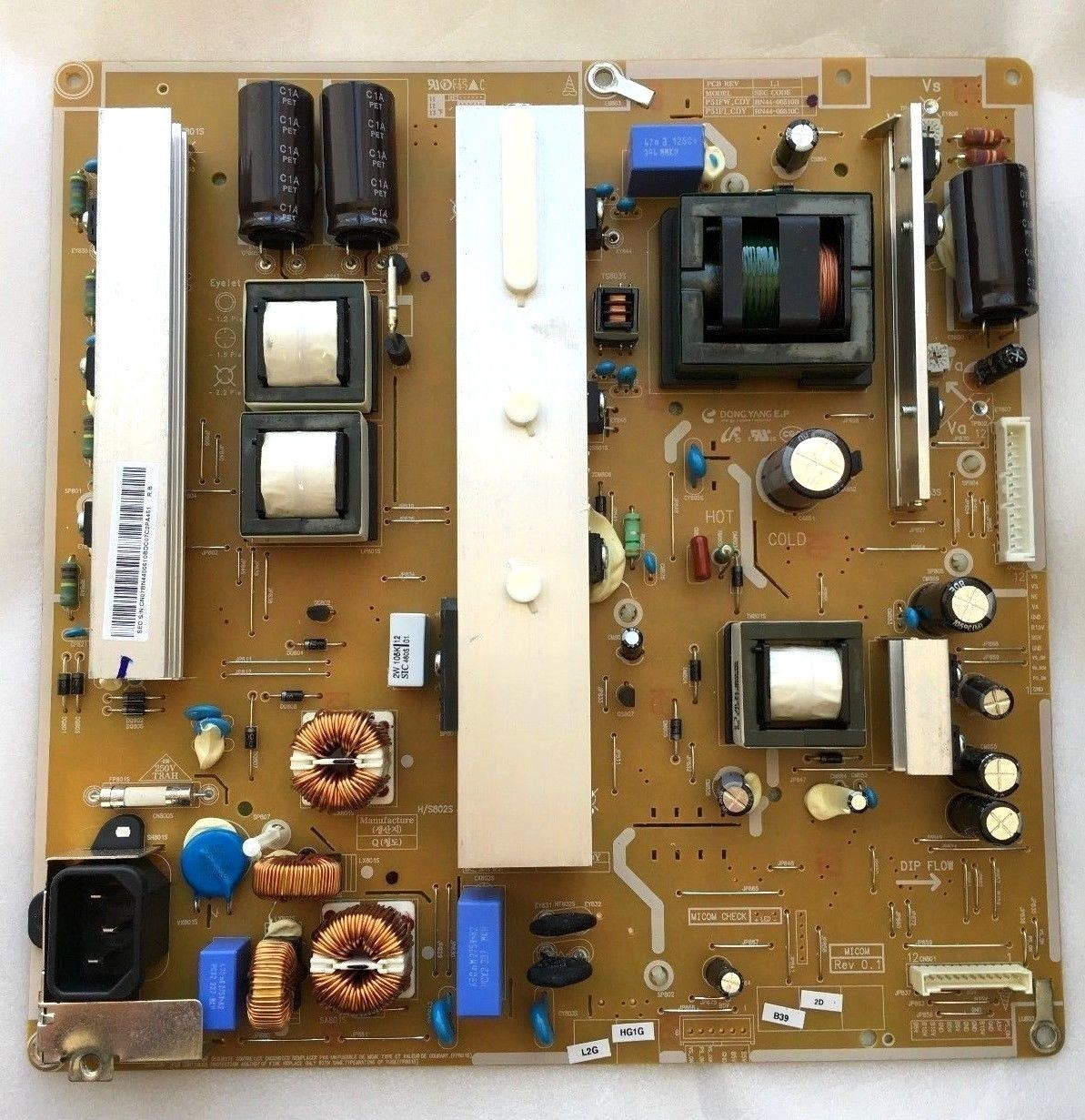 Samsung PN51E550D1F Power Supply Board BN44-00510B P51FW_CDY