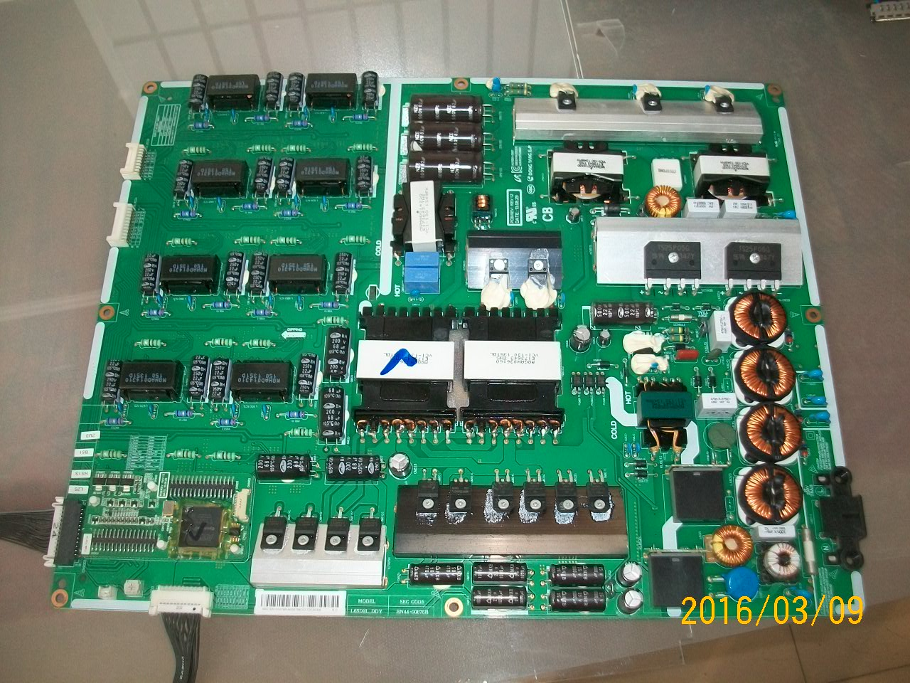 SAMSUNG UN65F9000AF POWER SUPPLY BN44-00675B / L65D2L_DDY