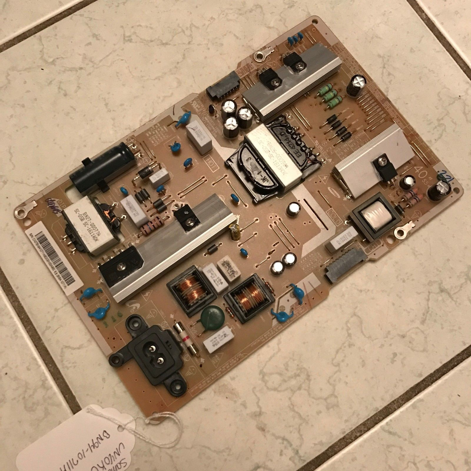 SAMSUNG BN94-10711A POWER SUPPLY BOARD FOR UN40KU6300 AND OTHER