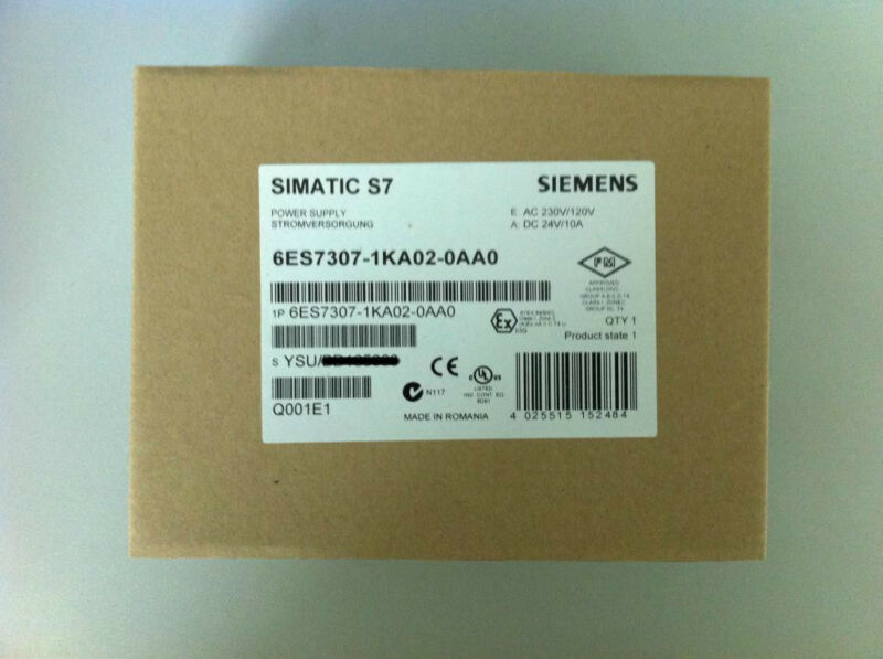 NEW SIEMENS POWER SUPPLY MODULE 6ES7307-1KA02-0AA0 FREE EXPEDITED SHIPPING