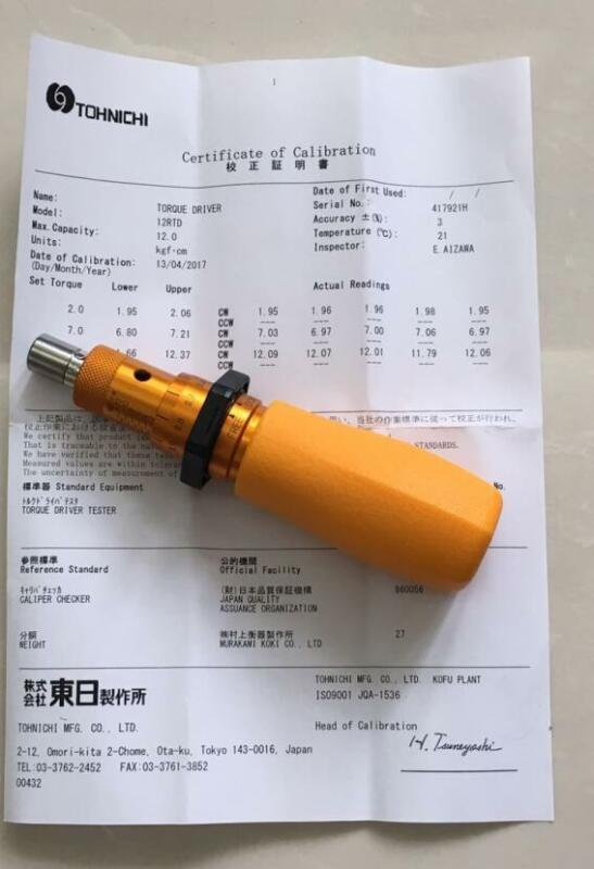 TOHNICHI Adjustable Torque Screwdriver 12RTD 2-12 kgf.cm FREE EXPEDITED SHIPPING