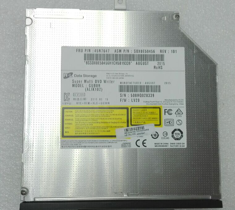 GU90N 8X CD DVD RW Burner drive For Dell HP Lenovo 9.5(H)mm