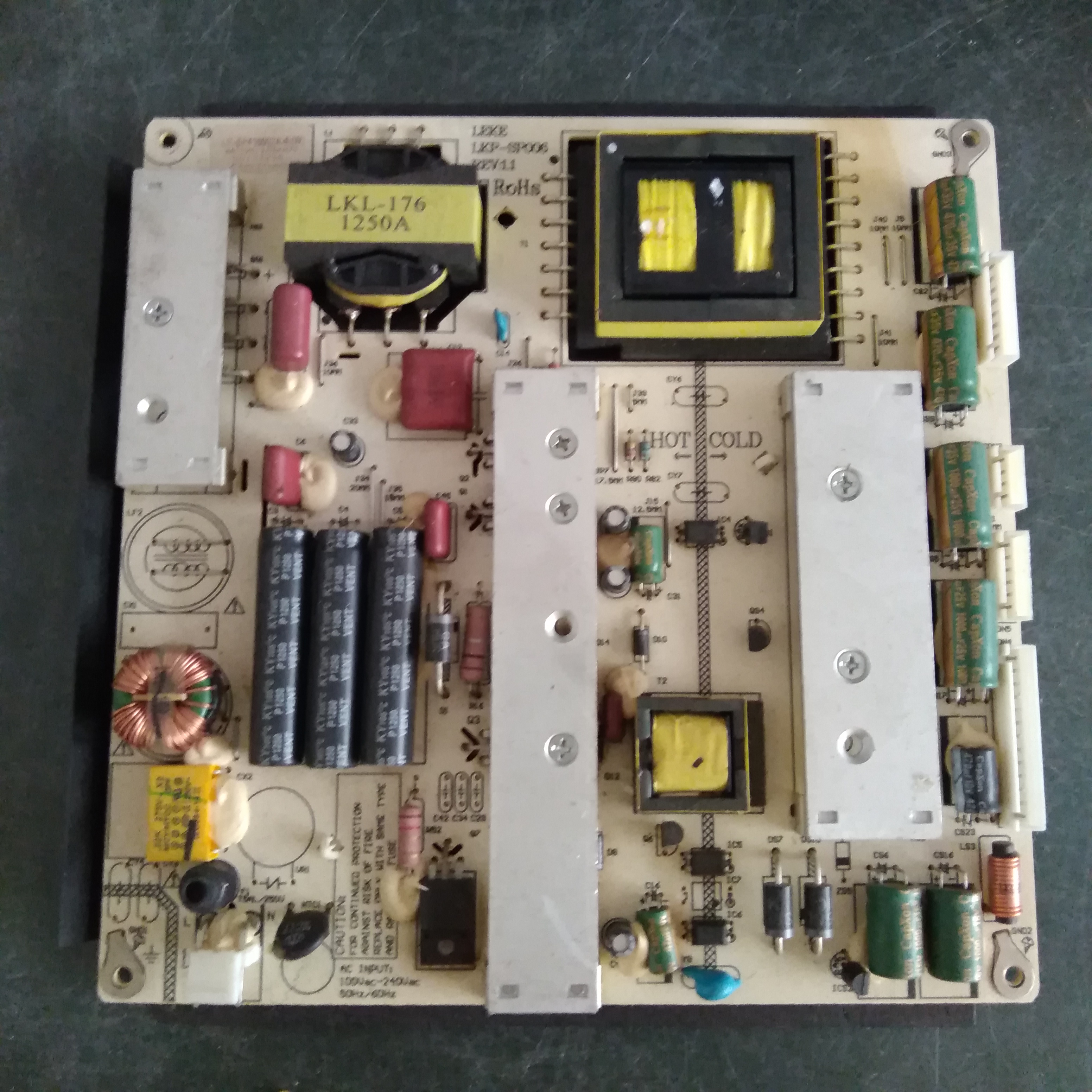 LED 55 inch power supply board LK-SP416002A-E(W) LKP-SP006REV: 1.1 ROHS