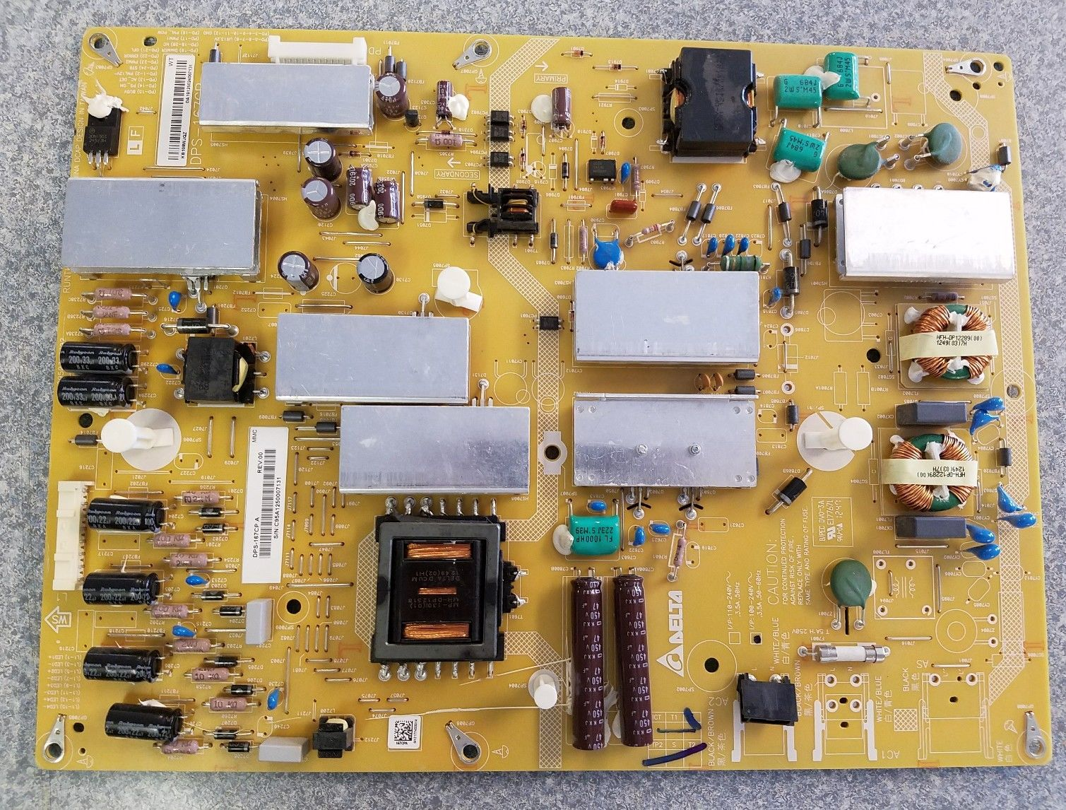 Sharp RUNTKB109WJQZ LC-60LE650U / LC-60EQ10U Power Supply Board