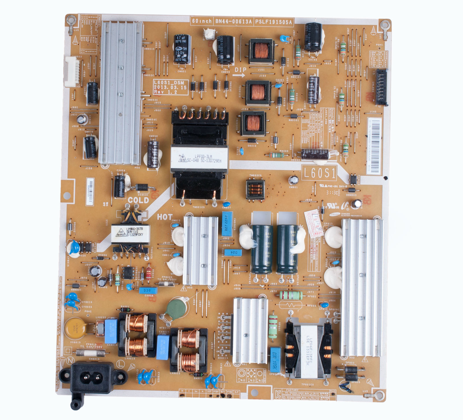 US L60S1_DSM BN44-00613A Samsung Power Supply Board For UN60F630