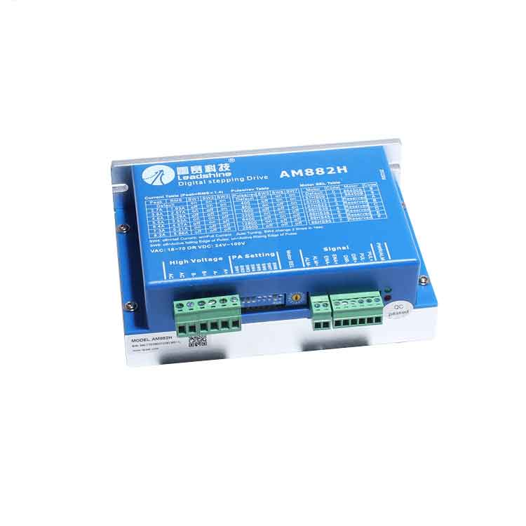 Leadshine 2-phase stepper driver AM882H fit NEMA 23/34/42 stepper motor work 36-80VDC out 2.7A-8.2A CNC Drivers