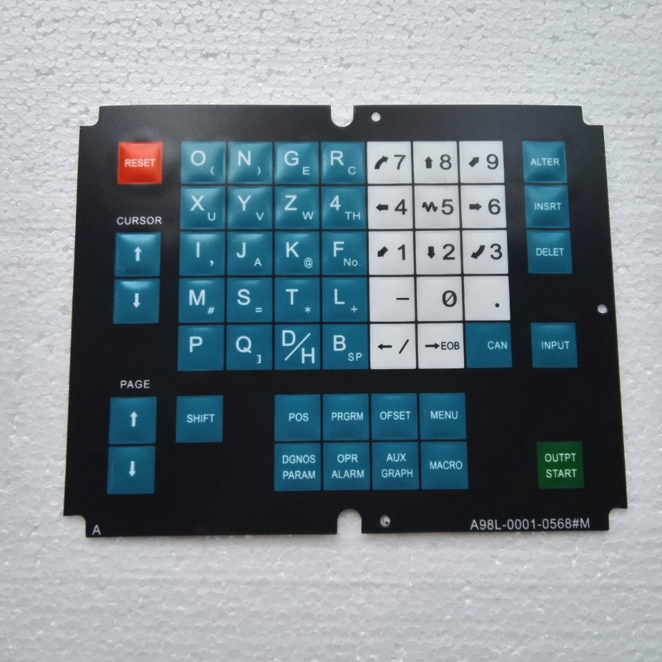 Membrane Keysheet Keypad Keyboard for Fanuc A98L-0001-0568 # M A98L00010568 # M