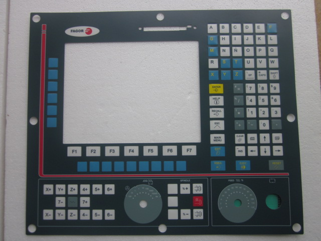 NMON-55M-11-LCD CNC HMI Panel for Fagor Membrane Keypad buttons
