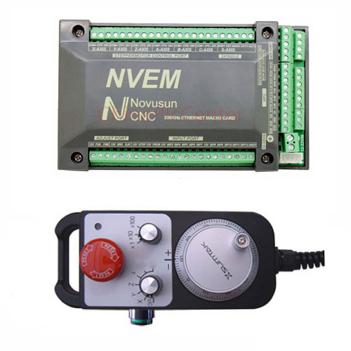 NVEM 4 axis cnc controller with 4 Axis MPG Pendant Handwheel