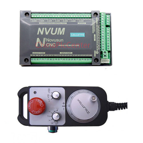 NVUM 4 axis cnc controller with 4 Axis MPG Pendant Handwheel
