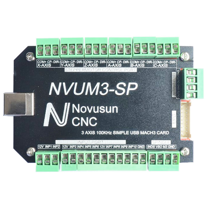 USB MACH3 Interface Board Card 3-Axis CNC Controller 100KHz for Stepper Motor NVUM3-SP