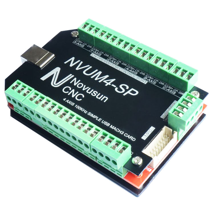 USB MACH3 Interface Board Card 4-Axis CNC Controller 100KHz for Stepper Motor NVUM4-SP
