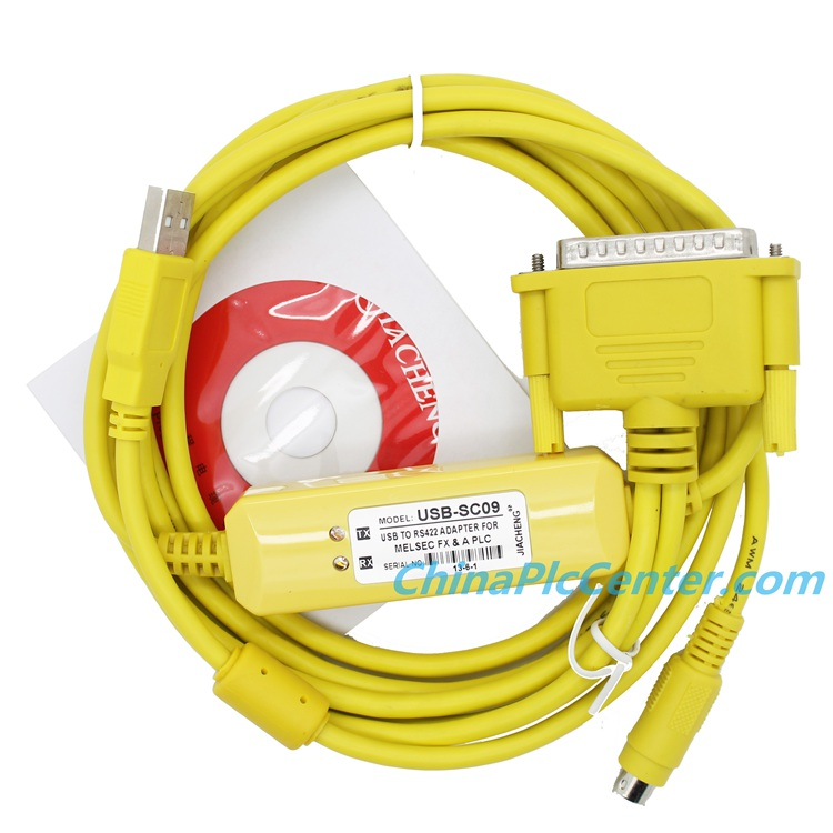 usb sc09 programming cable with driver plc cable Yellow II