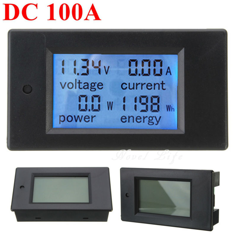 DC 6.5V-100V 100A Digital Multifunction Power Meter Monitor Module Voltmeter Ammeter Energy Meter With Current Transformer